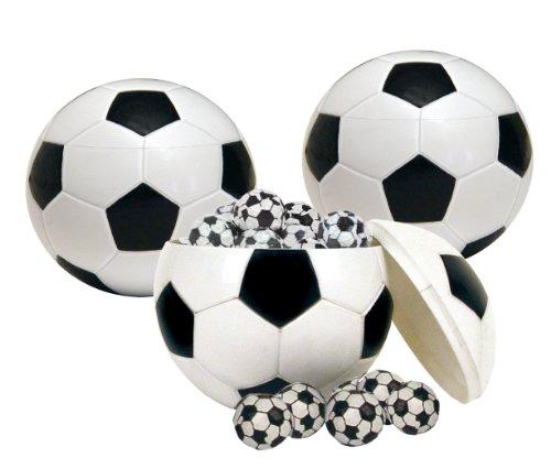 Bull & Bear 3er Set Fußballdose Ball Box Kaugummibälle