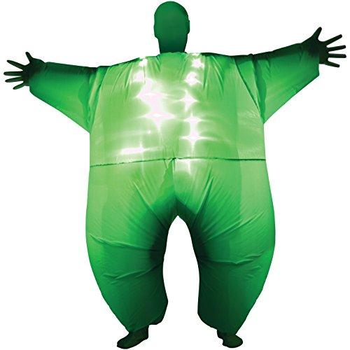 Grün leuchten aufblasbare Kostüm - eine Größe passt am meisten