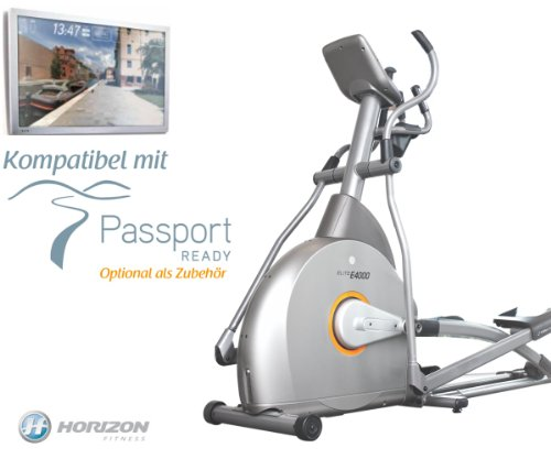 Elite E4000 Crosstrainer mit Passport Ready Kompatibel- Horizon Fitness