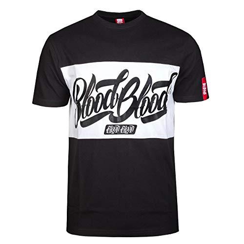 Blood Logo Stripe Männer Sport Shirt 2XL