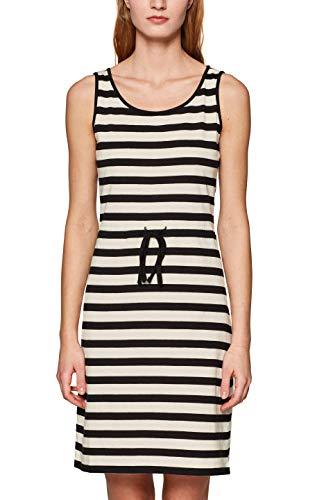 edc by ESPRIT Damen 049CC1E022 Kleid, Weiß (Off White 110), Small (Herstellergröße: S)