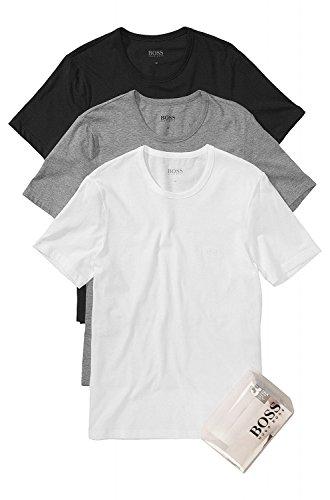 BOSS Hugo Boss Herren 3er Pack T-Shirt Shirt SS RN 3P BM 50236738, Farbe:Mehrfarbig;Größe:XL