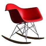 QTQZDD Fauteuil à Bascule en Acier Multifonctionnel Leg Leg PP Assise en Plastique avec accoudoirs Assemblage Confortable, 8 Couleurs (Couleur: Bas, Taille: 35x69x70cm)
