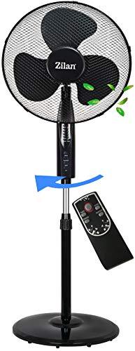 Standventilator 50 Watt Ø 41cm | Fernbedienung | Oszillierender Ventilator | 4H Timer | Windmaschine | Klimagerät | Turmventilator | Ventilator leise | Bodenventilator | Luftkühler |
