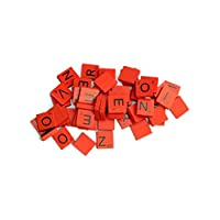 SystemsEleven® 100 Wooden Colourful Colored Coloured Scrabble Tiles Mix Letters Varnished Alphabet Scrabbles