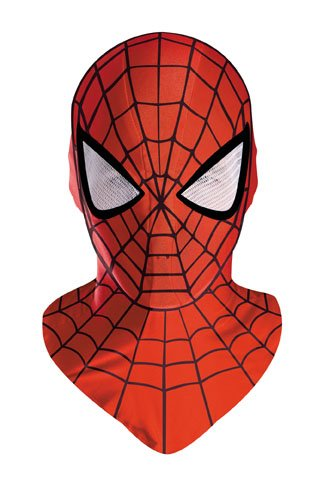 Spiderman Deluxe Adult Red Costume Mask (Adult Deluxe Spiderman Kostüm)
