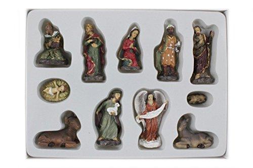 Unbekannt Mini Krippenfiguren 11-teilig H.:4,5cm in Plastikbox (0020070)