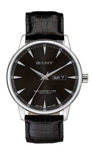 GANT W10701 - Reloj de caballero de cuarzo, correa de piel color negro