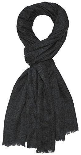 Lorenzo Cana Luxus Herren Schal aus flauschiger Yak Wolle aus Nepal Schaltuch 100% Yakwolle Pashmina Yakwolleschal Uni Naturfaser Anthrazit 784971177 -