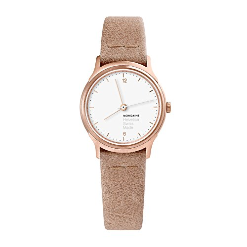 Mondaine Women's Analog Swiss-Quartz Watch with Leather Strap MH1.L1111.LG