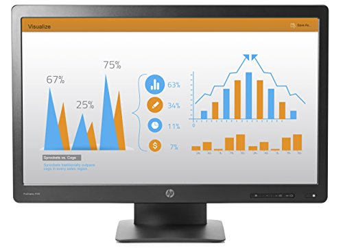 HP P232 ProDisplay Monitor 23' Antiriflesso con Retroilluminazione LED, Nero