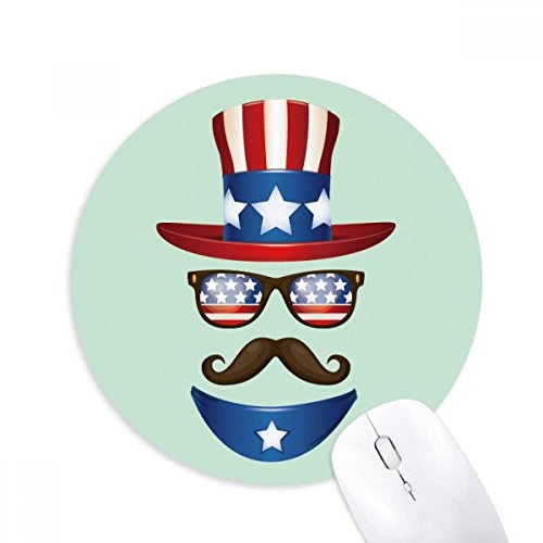 DIYthinker Amerika Uncle Sam I Want You Round Griffige Gummi Mousepad Spiel Büro Mauspad Geschenk -