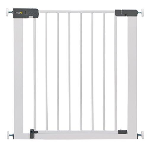 Safety 1st Quick Close Plus Treppenschutzgitter, extra sicheres Metall, Türschutzgitter zum Klemmen, weiß, bis 136 cm verlängerbar