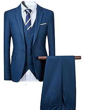 Herren Anzug Hochzeit Anzüge 3-Teilig Sakko Hose Weste