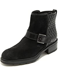 Hogan 4810G Stivale Donna Nero Tronchetto Basso Scarpa Boots Shoes Women 16682ac80c5