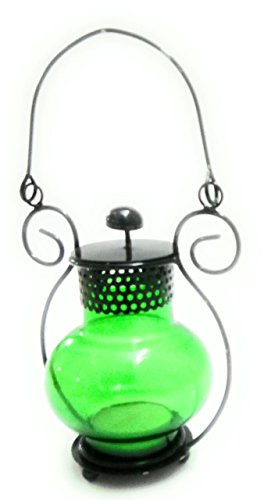 DreamKraft Iron T-Light Lantern With T-Light Candle For Festive Decoration and Home Decor (11 cm x 7 cm x 19 cm)