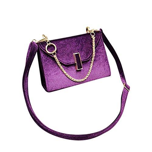 Lässige Mode Dame große Handtasche Messenger Tasche Geldbörse JYJMDamenmode einfarbig Samt Schulter Umhängetasche (Größe: 18 cm / 7,09