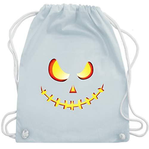 Halloween - Gruseliges Kürbis-Gesicht - Unisize - Pastell Blau - WM110 - Turnbeutel & Gym Bag (Ideen Kreative Herren Für Halloween-kostüme)