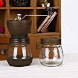 Ploekgda Versiegelte Dose Glasschleifer Keramikschleifkern Handschleifer Waschbar (Color : Black)
