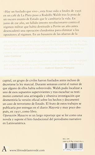 Resumen del libro de Rodolfo Walsh OPERACIÓN MASACRE