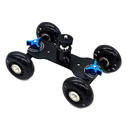 Segolike Rail Rolling Track Slider Skater Table Dolly Car for DSLR Camera Camcorder