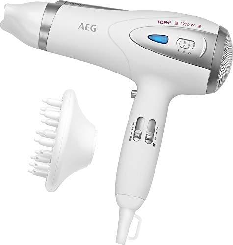 AEG HTD 5584 White 2200 W - Secador de pelo (White, Plastic, Hanging loop, 2200 W, 230 V, 50 Hz)