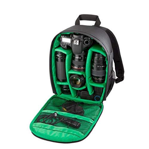 Professionelle Kamerarucksack, Reissfeste Tasche Fotorucksack Messenger Rucksack, Camera Backpack Kameratasche Kameratasche Backpacker Damen und Herren (Grün)