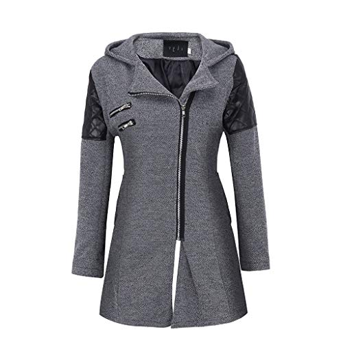 ➤Refill➤Winter Outwear Hooded Zipper Dünner Mantel Damen Warm Slim Jacke Dicke Parka Mantel Damen-Jacken