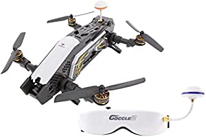 XciteRC 15003870 Racing Furious 320 °F3 RTF Drone Quadcopter with HD Camera FPV Video Goggles V2, OSD, Battery, Charger and Devo 10 Transmitter – Black by XciteRC