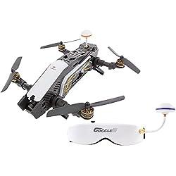 XciteRC 15003870 - FPV Racing Quadrocopter Furious 320 F3 RTF Drohne mit HD Kamera, Videobrille Goggle V2, OSD, Akku, Ladegerät und Devo 10 Fernsteuerung, schwarz