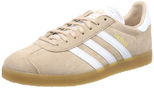 Adidas Herren Gazelle Gymnastikschuhe, Weiß (Ash Pearl S18/Ftwr White/Gum 3 Ash Pearl S18/Ftwr White/Gum 3), 37 1/3 EU
