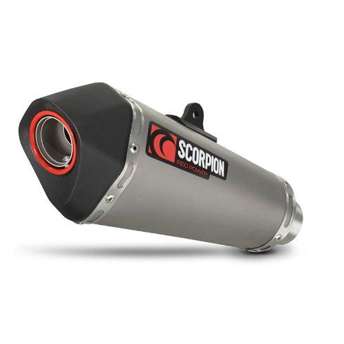 Scorpion Sekret Taper Satin Titanium Honda CBR 125 R 11-17