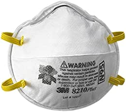 3M 3M-8210 Health Care Particulate Flu Protection Respirator and Surgical Mask (Pack of 20)