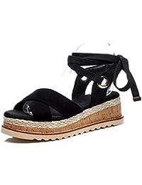 KJJDE Zapatos con Plataforma Mujeres WSXY-L0624 Correas Cruzadas Clásicas Sandalias Mujer Zapatilla Chanclas de...