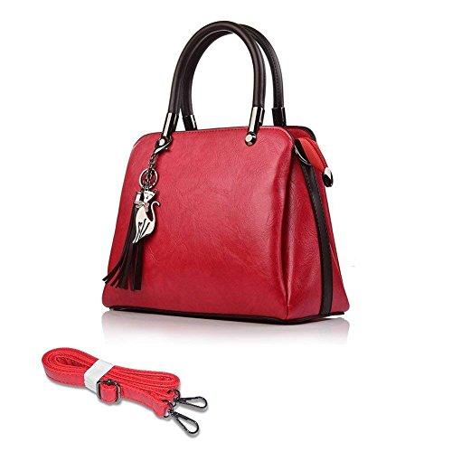 Women Shoulder Bag PU Leather Thanksgiving Christmas Caphill Fashion Handbag Cross Body Bag Shopping Bag Small Tote Bag with Strap for Ladies Girl
