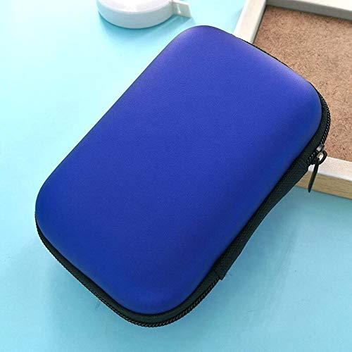 MMD Festplatte Paket Headset Tasche Datenkabel Aufbewahrungstasche Verpackung Mobile Power Pack Aufbewahrungsbox 2 Teile/Satz (Farbe : Blau)
