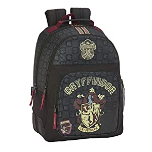 Harry Potter Mochila Doble con Cantoneras Adaptable A Carro, Multicolor