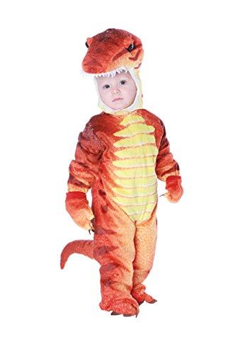 T-Rex Dinosaurier Kostüm für Kinder 4teilig Dino Kinderkostüm - rot/gelb - Rotes T Rex Dinosaurier Kostüm