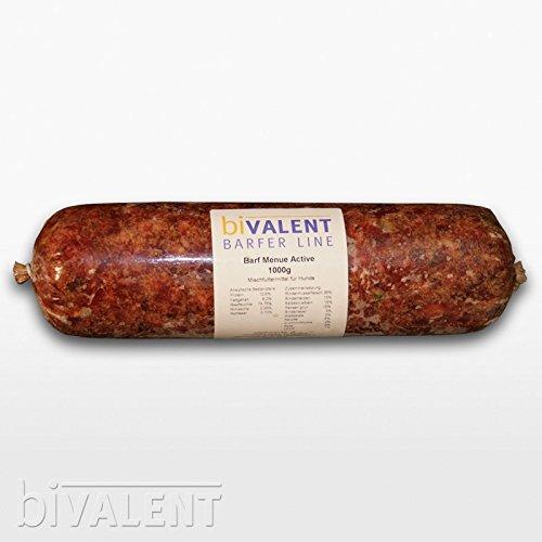 biVALENT-BarferLine-Barfer-Line-Barf-Menue-Rind-Muskelfleisch-durchwachsen-Rinderherz-Rinderbrustbein-Pansen-Leber-1000g-gewolft