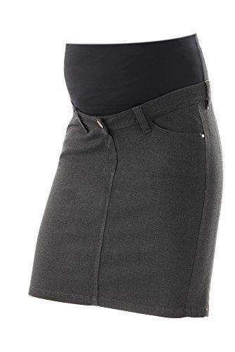 Christoff Femmes Mode De Grossesse Jupe 658/500 Confort Taille Haute Jupe Maternité Anthracite