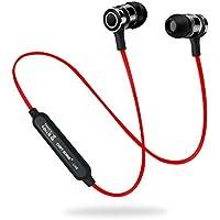 Auriculares Bluetooth, CHXYGOING Deporte en Ear inalámbrico 4.1 aptX Auricular magnético con micrófono sudor. Adecuado para jogging Fitness Workout Auriculares estéreo de oído para iPhone Samsung y cualquier otro Smartphone y tabletas (Rojo)