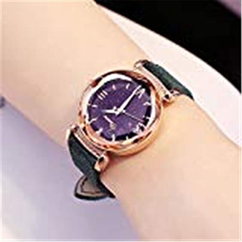 ANNIECLazy Watch Girl Star Student Trend Waterproof Authentic 2018 New Style,Antique Green 88188 Cashmere Skin -