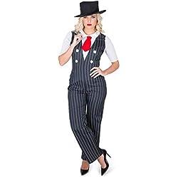 Karnival 812271920's Gangster Girl Kostüm, Frauen, Schwarz, Small