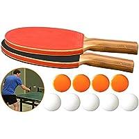 O&W Security - Juego de tenis de mesa (2 raquetas de tenis de mesa y 9 pelotas de ping pong, 11 piezas)