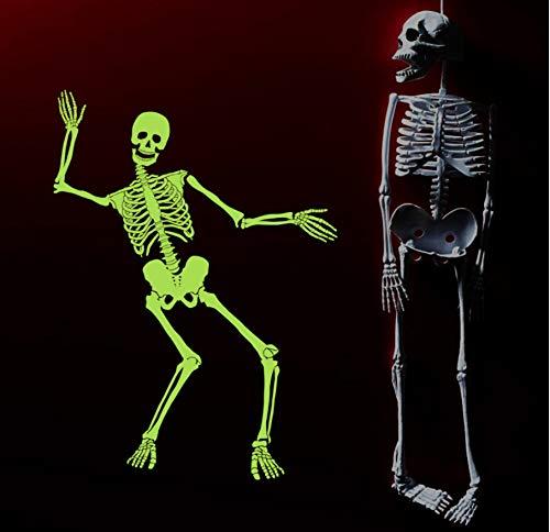 Cczxfcc Leuchtende Schädel Skelett Halloween Dekoration Wandaufkleber Für Party Fenster Wandtattoo Diy Wandmalereien Leuchten Im Dunkeln