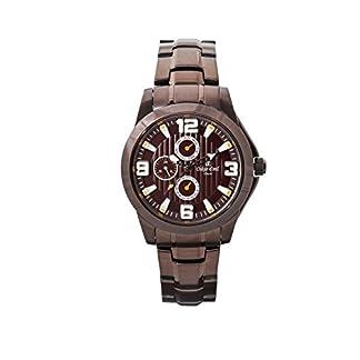 Oskar-Emil Classic Watches Reloj para Hombre de con Correa en Acero Inoxidable Chapado Wellington Brown