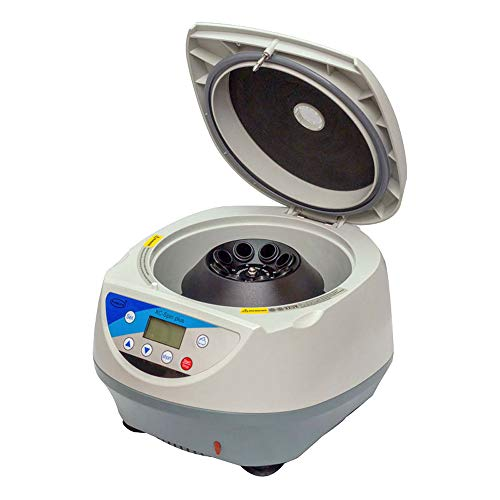 QWERTOUY Laboratoire Medical Machine à Basse Vitesse de Bureau PRP Centrifugeuse 8/6 de Tubes Coniques de 15 ML Machine centrifuge 5000 Tours par Minute