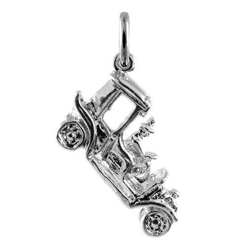 Charme Pandora Auto (TheCharmWorks Sterling-Silber Oldtimer Charmanhänger | Sterling Silver Vintage Car Charm)