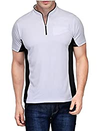 Scott Men's Jersey Round Neck Sports Dryfit T-shirt - White