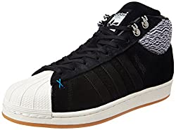 adidas Originals Mens Pro Model Bt Cblack and Owhite Leather Basketball Shoes - 9 UK/India (43 1/3 EU)
